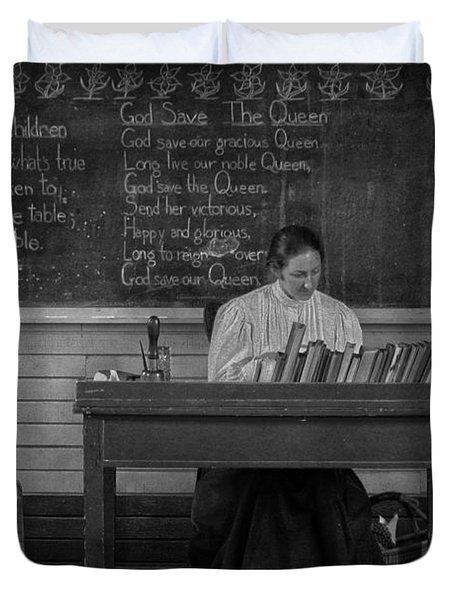 Teachers Rules  Duvet Cover by Jerry Cordeiro