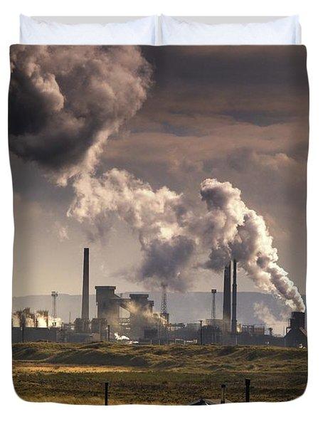 Teesside Refinery, England Duvet Cover by John Short