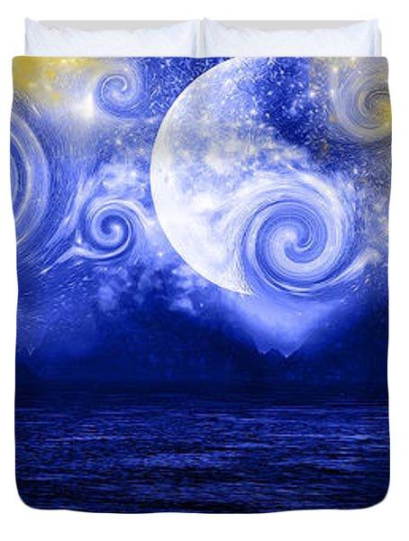 Tempestuous Night Duvet Cover by Lourry Legarde