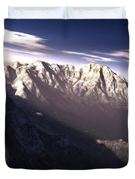 Terragen Render Of Kitt Peak, Arizona Duvet Cover by Rhys Taylor