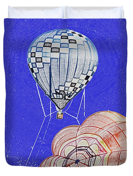 Tethered Hot Air Balloon Duvet Cover by Thomas Woolworth