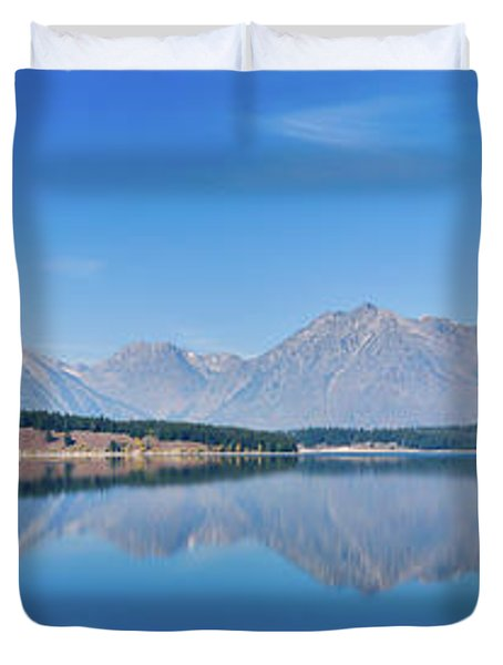 Teton Reflections Duvet Cover by Greg Norrell