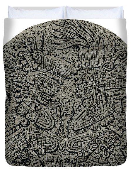 Tezcatlipoca And Huitzilopochtli Duvet Cover by Photo Researchers