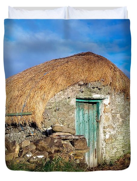 Thatched Shed, St Johns Point, Co Duvet Cover by The Irish Image Collection