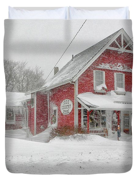 The 1856 Country Store On Main Street In Centerville On Cape Cod Duvet Cover by Matt Suess