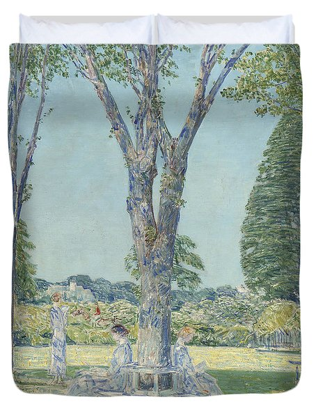The Audition Duvet Cover by Childe Hassam
