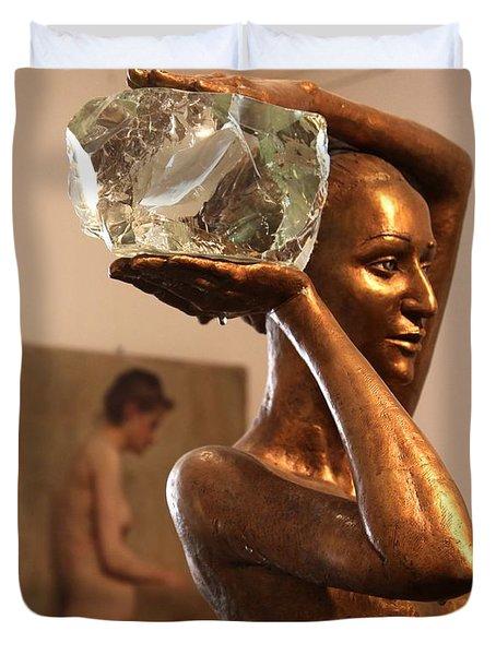 The Bather Duvet Cover by Enzie Shahmiri