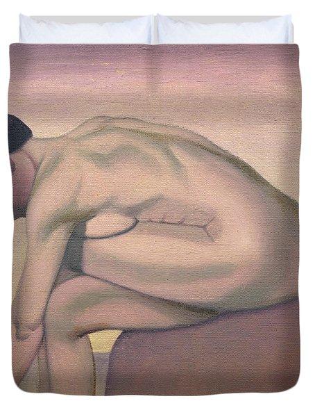 The Bather Duvet Cover by Felix Edouard Vallotton