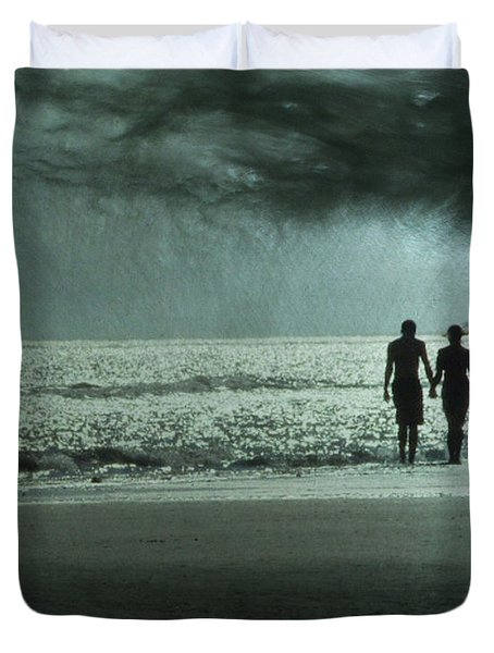 The Beachcombers Duvet Cover by Amy Tyler