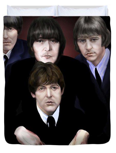 The Beatles Duvet Cover by Reggie Duffie