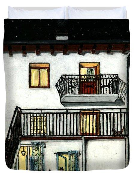 The Beginning Of Autunm In Muggianu's House Duvet Cover by Donatella Muggianu
