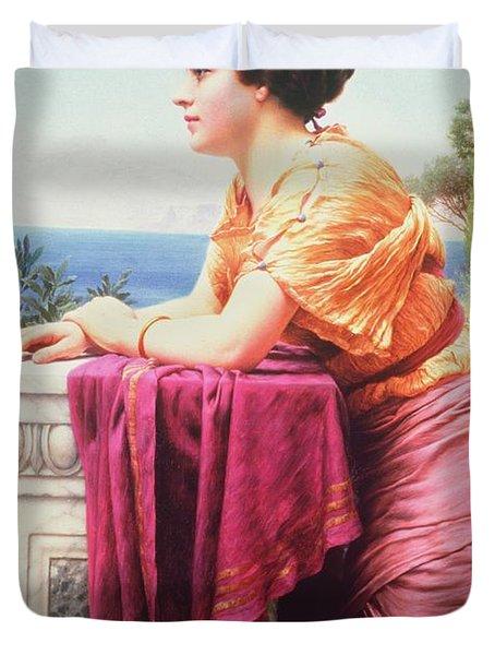 The Belvedere Duvet Cover by John William Godward