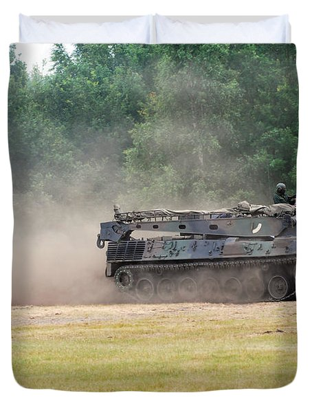 The Bergepanzer Used By The Belgian Army Duvet Cover by Luc De Jaeger