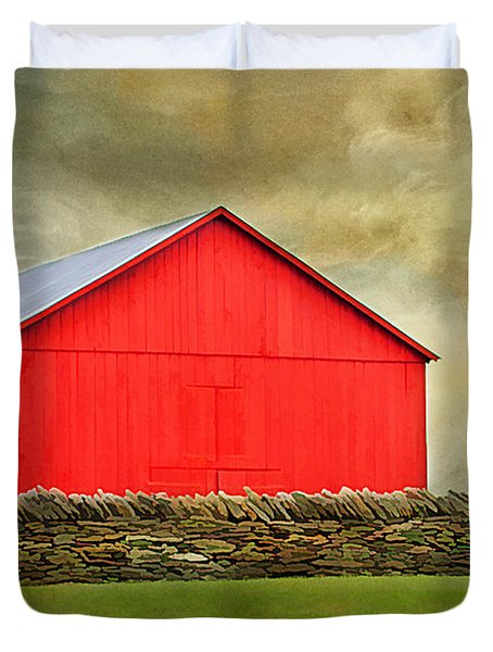 The Big Red Barn Duvet Cover by Darren Fisher