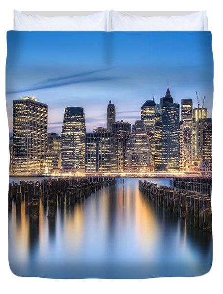 The Blue Hour Duvet Cover by Evelina Kremsdorf