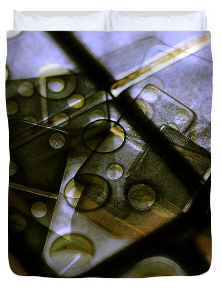 The Bone Pile Duvet Cover by Judi Bagwell