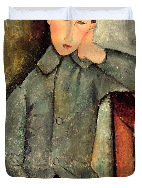 The Boy Duvet Cover by Amedeo Modigliani