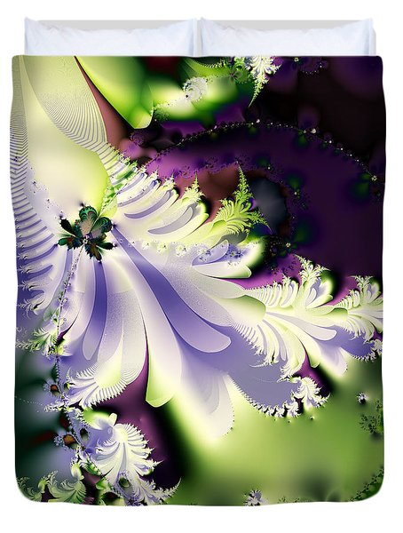 The Butterfly Effect . Version 2 . Square Duvet Cover by Wingsdomain Art and Photography