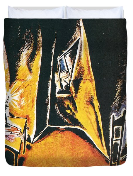 The Cabinet Of Dr Caligari Duvet Cover by Georgia Fowler