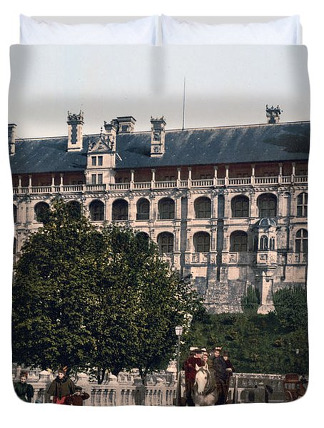 The Castle In Blois - France Duvet Cover by International  Images