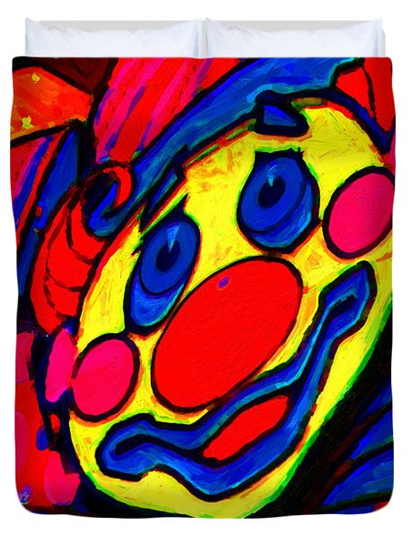 The Circus Circus Clown Duvet Cover by Wingsdomain Art and Photography