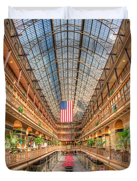 The Cleveland Arcade II Duvet Cover by Clarence Holmes