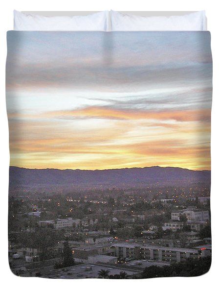 The Colors Of The Sky Over San Jose At Sunset Duvet Cover by Ashish Agarwal
