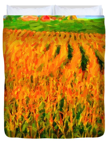 The Cornfield Duvet Cover by Wingsdomain Art and Photography