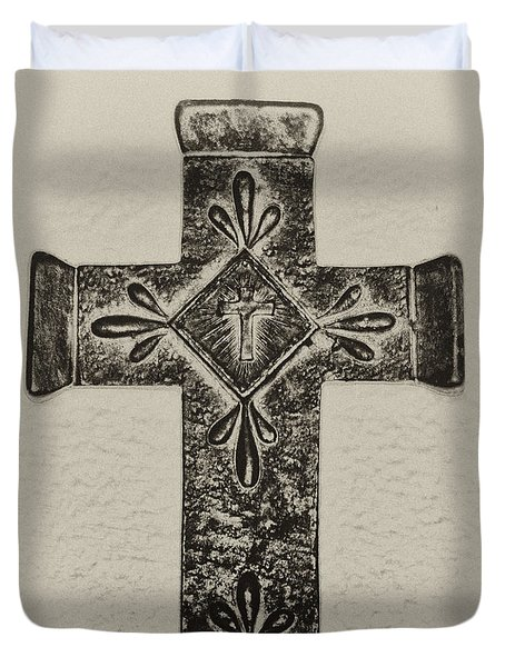 The Cross Duvet Cover by Bill Cannon