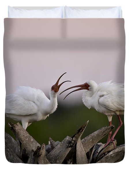The Debate Duvet Cover by Rob Travis