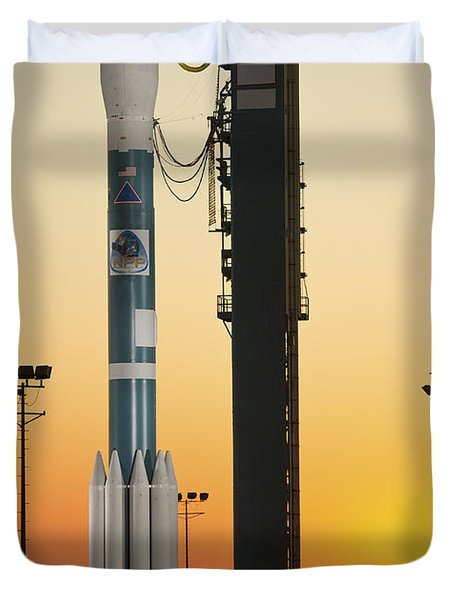 The Delta II Rocket On Its Launch Pad Duvet Cover by Stocktrek Images