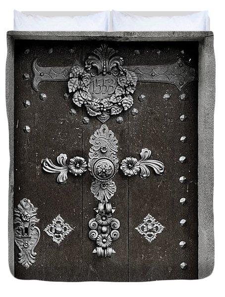 THE DOOR - Ceske Budejovice Duvet Cover by Christine Till