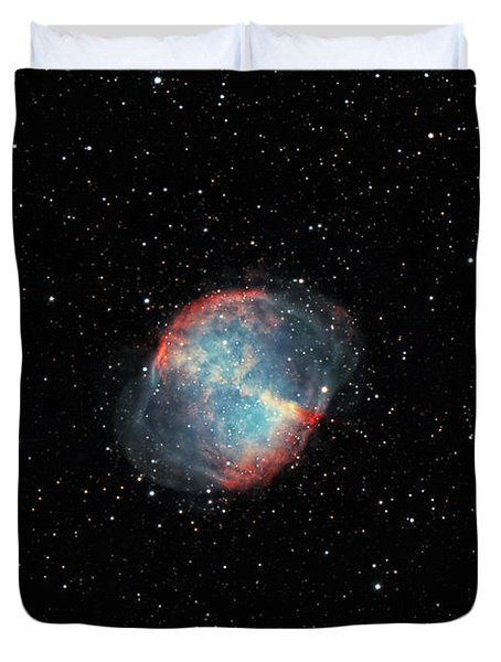 The Dumbbell Nebula Duvet Cover by Rolf Geissinger