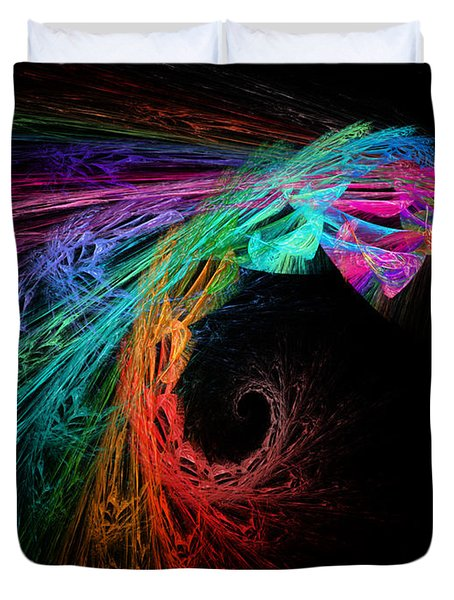 The Eagle Rainbow Duvet Cover by Andee Design