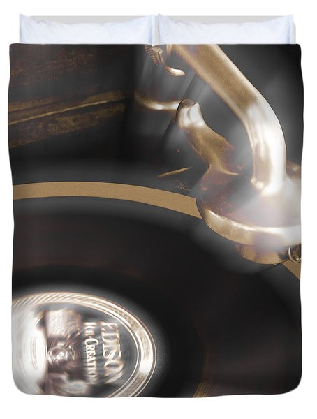 The Edison Record Player Duvet Cover by Mike McGlothlen
