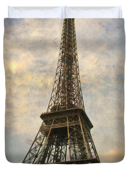 The Eiffel Tower Duvet Cover by Laurie Search