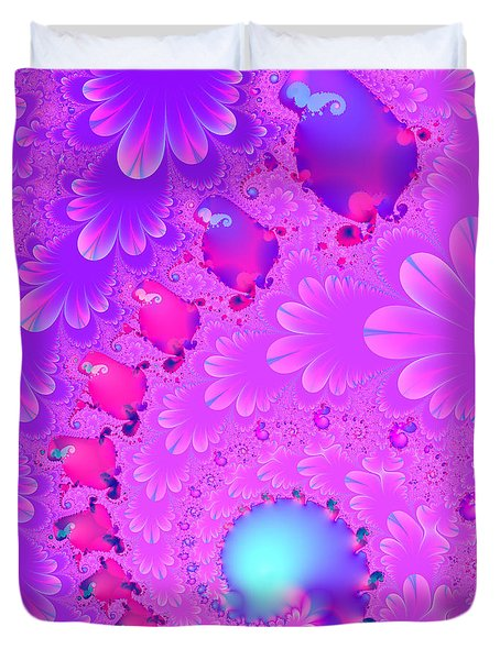 The Enchanted Forest . Version 2 . Square . S8 Duvet Cover by Wingsdomain Art and Photography