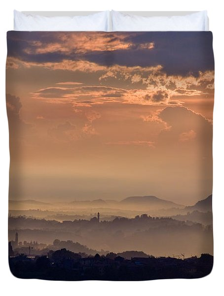 The End Of The Storm Duvet Cover by Marco Busoni