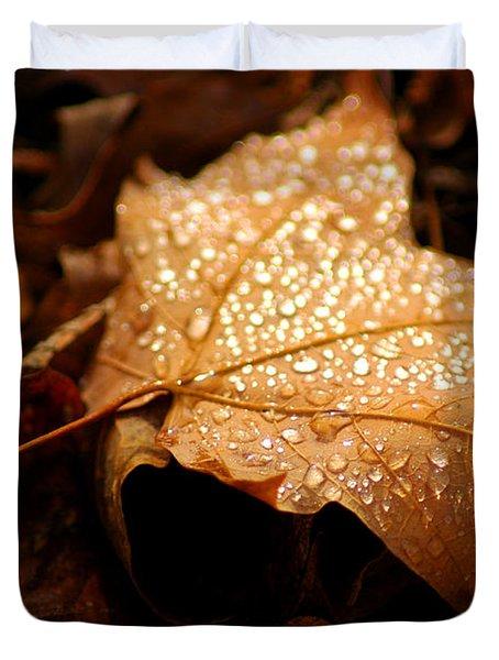 The Enlightened Maple Leaf Duvet Cover by LeeAnn McLaneGoetz McLaneGoetzStudioLLCcom