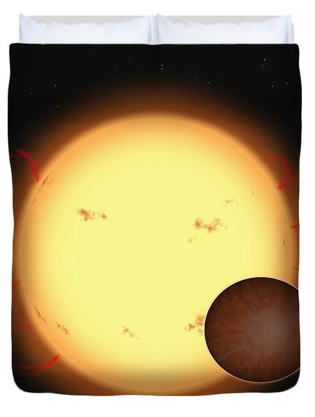 The Extrasolar Planet Hd 209458 B Duvet Cover by Ron Miller