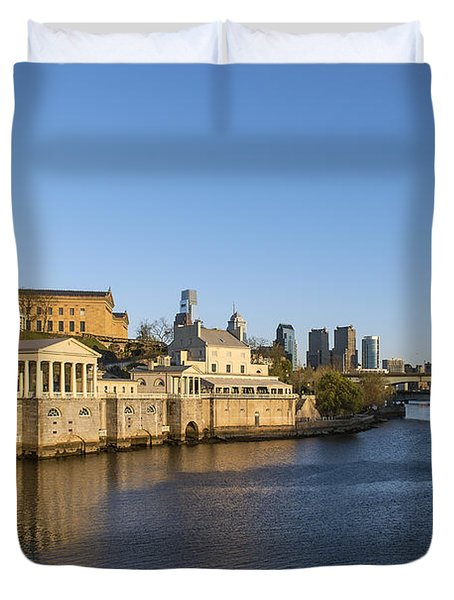 The Fairmount Water Works Duvet Cover by John Greim