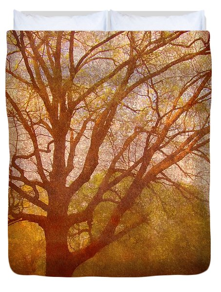 The Fairy Tree Duvet Cover by Brett Pfister