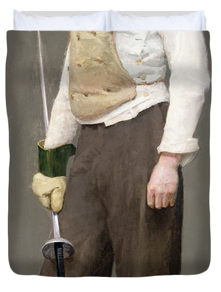 The Fencing Master Duvet Cover by Julius Gari Melchers