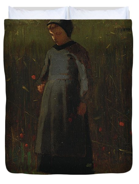 The Flowers Of The Field Duvet Cover by Winslow Homer