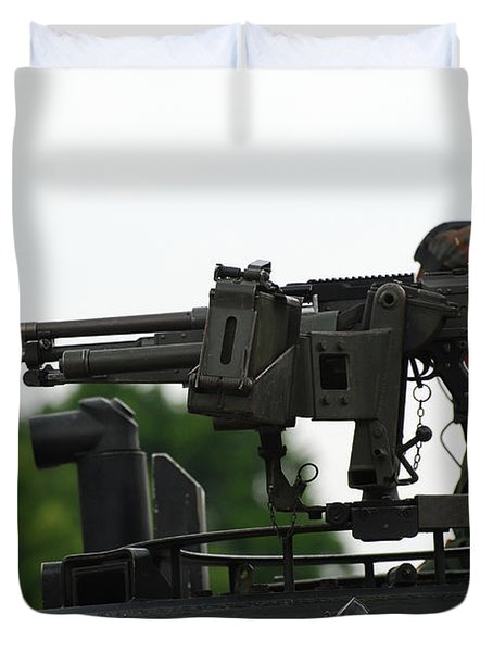 The Fn Mag Gun On The Turret Duvet Cover by Luc De Jaeger