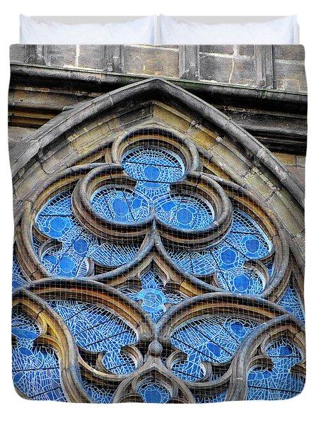 The Folly Of Windows In Prague Duvet Cover by Christine Till
