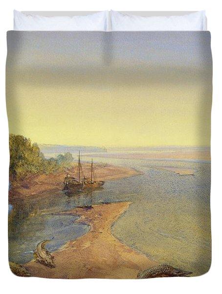 The Ganges Duvet Cover by William Crimea Simpson