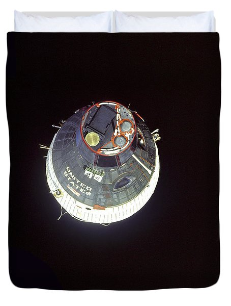 The Gemini 7 Spacecraft Duvet Cover by Stocktrek Images