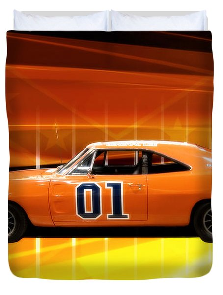 The General Lee Duvet Cover by Joel Witmeyer