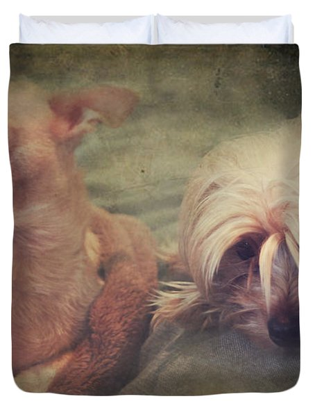 The Girls Duvet Cover by Laurie Search